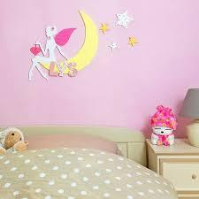 deco fee chambre fille diy chambre rêveuse fée lune lettres en bois cœur et étoiles