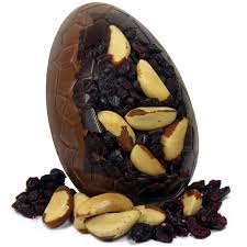 fruit and nut easter eggs milk chocolate brazil nut and cranberry easter egg