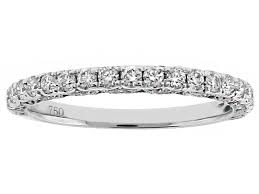 wedding band with scalloped and beaded side detail in 18kt white gold
