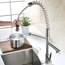Kitchen Faucet Awesome Layouts Ideas And Edison Single Hole Dual Refin Oversized Heavy Duty Spring Kitchen Faucet Commercial Style