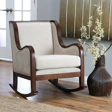 White Rocking Chair For Nursery by Furniture Beautiful Upholstered Rocking Chair For Home Furniture