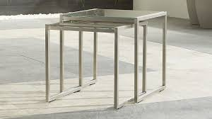 crate and barrel nesting tables dune nesting tables with taupe painted glass set of two reviews
