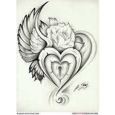 broken with wings tattoos wing lock