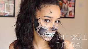Half Skull Halloween Makeup by Half Skull Makeup Tutorial Halloween Makeup Tutorial