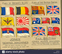 Flags Of The Wrld World War One Flags On Advertising Leaflet For Jones U0027 Sewing