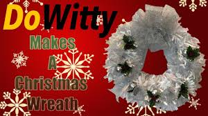 how to make a white christmas wreath wreaths and crafts