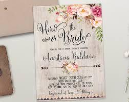 rustic bridal shower invitations bridal shower invite etsy