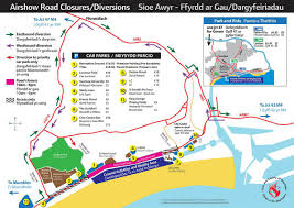 Ryanair Route Map by Security Forces Road Closures For Wales National Airshow