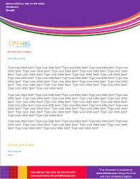 business letterhead template multi wave design dotxes