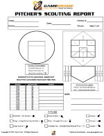 baseball scouting report template gamegrade charts
