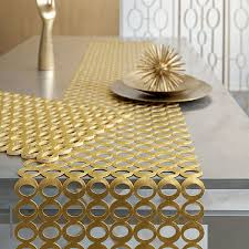 how to make table runner at home gold modern table runner the holland how to make a mirror of in