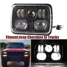 jeep wrangler square headlights aliexpress com buy square pair 7x6 led headlights h4 light