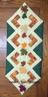 Fall Table Runners by Fall Leaves Quilt Block And Table Runner 4x4 5x5 6x6 Hoop Sweet Pea