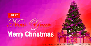merry christmas happy new year design in spanish language gold