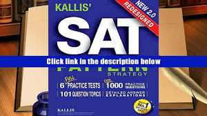 popular book kallis redesigned sat pattern strategy 6 full