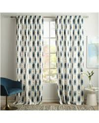 great deals on west elm cotton canvas ikat gem printed curtain