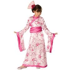 kids cute asian princess japan kimono girls fancy dress halloween