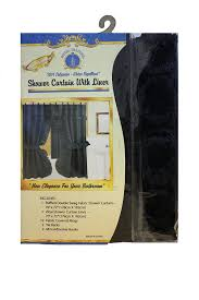 Double Swag Shower Curtain With Valance Amazon Com Double Swag Shower Curtain With Pvc Liner Hooks And