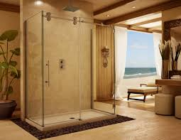Frosted Glass Shower Door by Decorative Glass Shower Doors