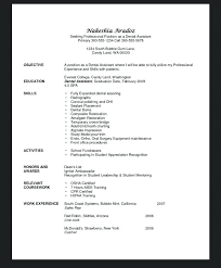 Resume Template Dental Assistant Sample Of Dental Assistant Resume Dental Assistant Resume Examples