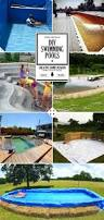 Backyard Pool Ideas On A Budget by Best 25 Homemade Swimming Pools Ideas Only On Pinterest
