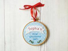 Custom Baby Ornaments Personalized Ornament Christmas Ornament Baby U0027s First Christmas
