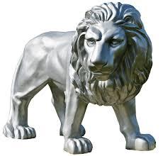 silver lion statue silver lion statue transparent png stickpng