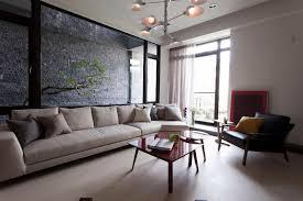 living room glass windowed indoor garden as living room focal