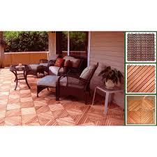 vifah v182 eucalyptus 12 diagonal slat interlocking deck tile in