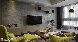 Minimalist TV Background Wall Tiles Decorate The Living Room - Living room wall tiles design