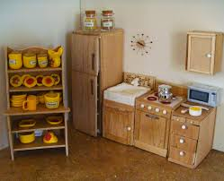 a playscale barbie size kitchen made from styrofoam basswood