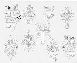 cross sketch tattoos art tattoos art