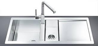 Smeg Kitchen Sink 1 5 Bowl Stainless Steel Flush Fit Sink Right Drainer Smeg