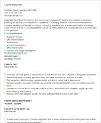 Sample Of Resume For Receptionist by Receptionist Resumes Legal Receptionist Resume Best Legal