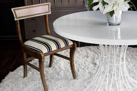 how to make dining room chairs update a dining chair cushion with a flat weave rug how tos diy