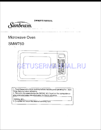 ge monogram oven manual sunbeam microwaves smw750 owner u0027s manual download free