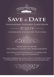 save the date emails fashioning futures luncheon save the date clothes that work