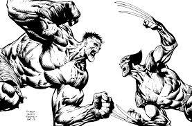 drawn hulk wolverine pencil color drawn hulk wolverine