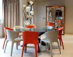 glass round dining room table round glass dining room tables for