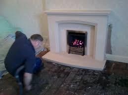 limestone fireplace installation