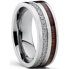 comfort fit titanium mens wedding bands titanium men s wedding band ring with real koa wood inlay cubic