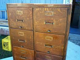 Wood Filing Cabinet Walmart by Antique U201cdouble Wide U201d Shaw Walker C 1910 Oak 8 Drw File Cabinet