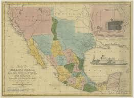 Mexico Map 1821 by Texas History Austin And Texas History Information Guides At