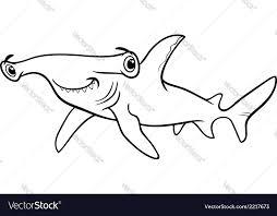 hammerhead shark coloring book royalty free vector image