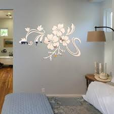 mirror decals home decor new fashion 3d mirror vinyl removable wall sticker decal home