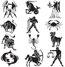 fresh small black zodiac pisces aries and libra symbol tattoos