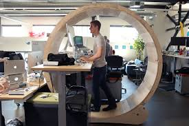 Exercise At The Office Desk The Hamster Wheel Desk That Lets You Exercise At The Office