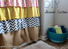 Ruffled Shower Curtains Diy Ruffled Shower Curtain Spoonful Of Imagination