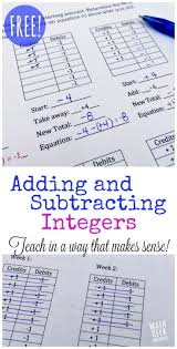 best 20 adding negative numbers ideas on pinterest subtracting