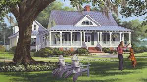 Farmhouse With Wrap Around Porch Plans Farmhouse Wrap Around Porch Metal Roof Little Cabin In The Woods